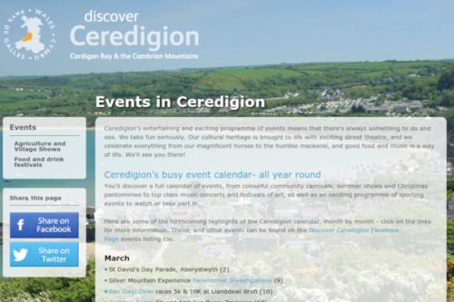 Ceredigion Listing